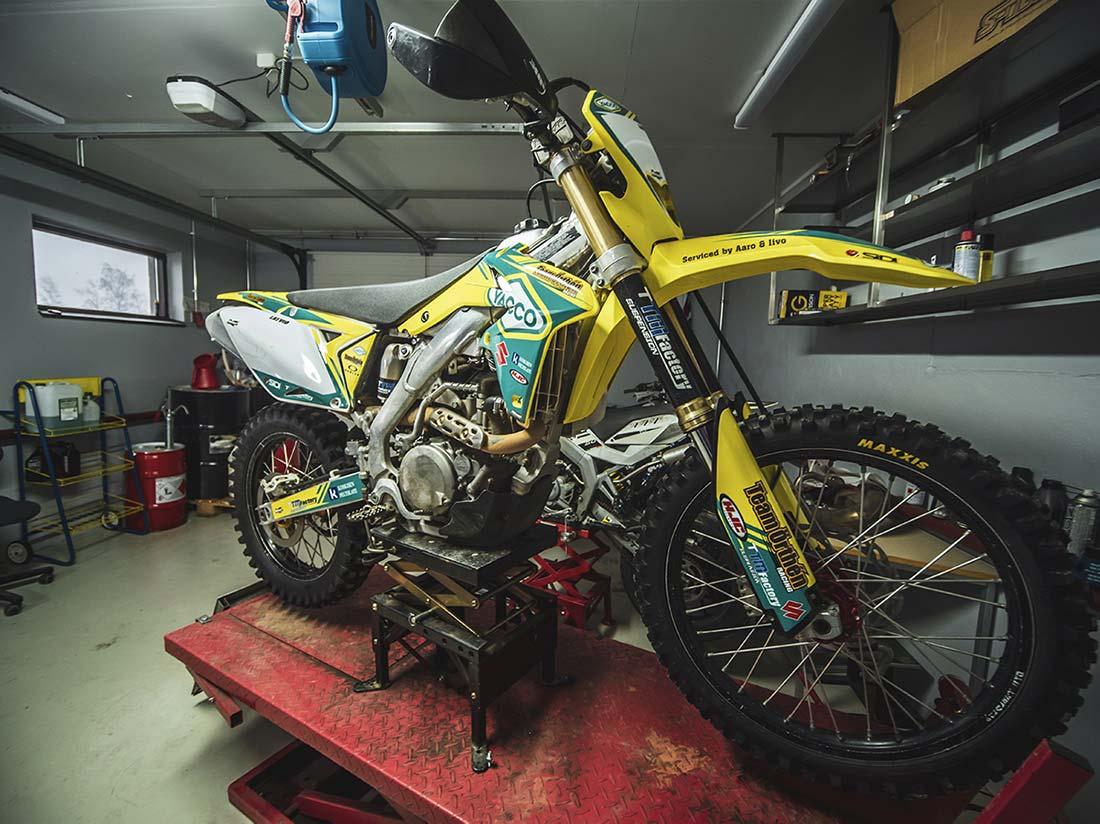 Motocross ja enduropyörien iskarit ja niiden säätäminen